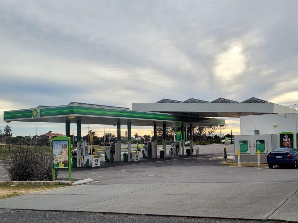 BP petrol station at Mindarie Central